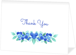 Blueberry Watercolor Thank You Card