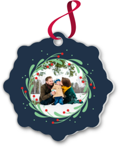 Whimsical Mistletoe Wreath Ornament