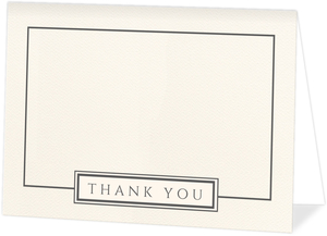 Modern Initial Square Thank You Card