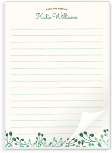 Whimsical Greens Notepad