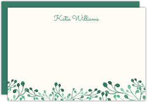 Whimsical Greens Notecard
