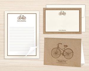 Vintage Bicycle Stationery Set