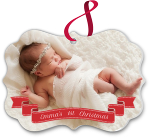 Red Banner Baby Ornament