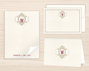 Modern Crest Stationery Set
