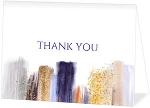 Modern Glam Paint Thank You Card