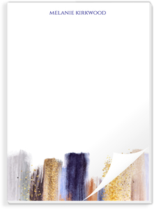 Modern Glam Paint Custom Notepad