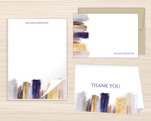 Modern Glam Paint Stationery Set