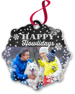 Happy Howlidays Snowflake Ornament