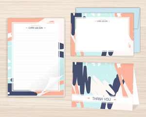 Artsy Paint Stationery Set