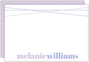 Simple Purple Name Custom Notecard