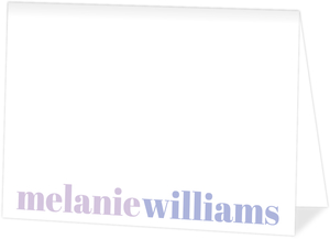 Simple Purple Name Folded Card