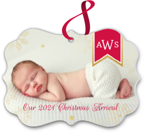 Christmas Arrival Custom Ornament