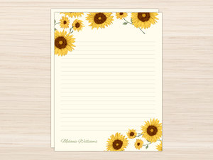 Decorative Sunflower Letter Writing Paper