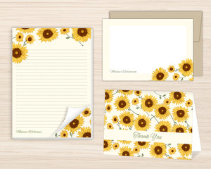 Decorative Sunflower Stationery Set