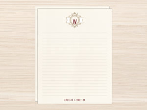Modern Crest Letter Writing Paper