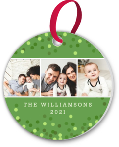 Green Confetti Ornament