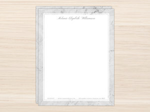 Elegant Gray Marble Letter Writing Paper