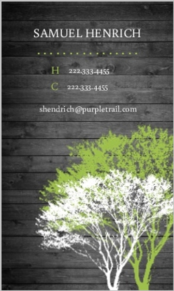 Rustic green and grey tree business card business cards rustic green and grey tree business card colourmoves