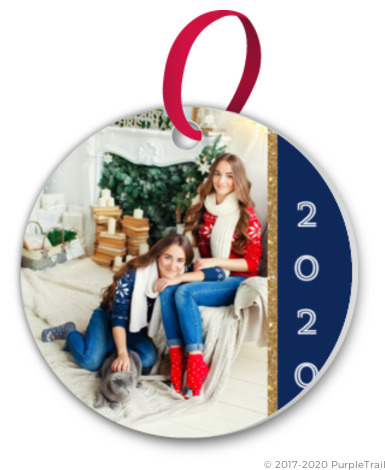 royal blue gold custom photo ornament - Royal Blue And Gold Christmas Decorations