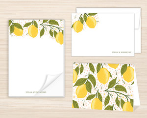 Lemon Vine Stationery Set