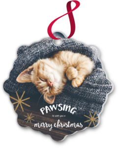 Pawsing Pet Custom Ornament