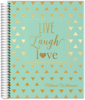 Faux Gold Foil Triangle Quote Custom Daily Planner 8.5x11