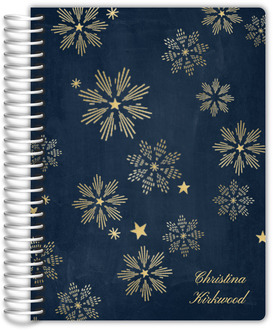 Shimmering Stars Faux Foil Daily Planner 6X8