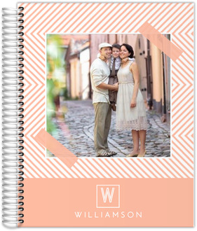 Peach Chevron Custom Daily Photo Planner 8.5x11