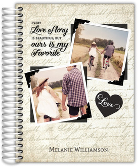 Vintage Love Story Custom Daily Planner 6x8