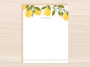 Lemon Vine Letter Writing Paper