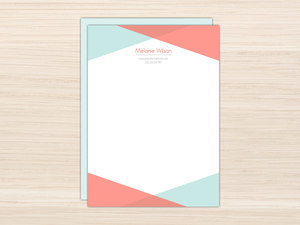 Modern Colored Frame Letter Writing Paper