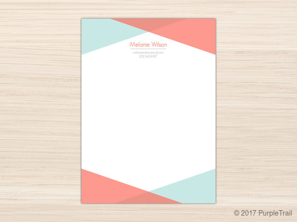 modern colored frame letter writing paper letter writing paper