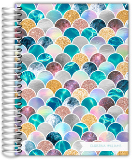 Faux Glitter Mermaid Scales Daily Planner