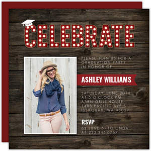 Rustic Marquee Celebrate Graduation Invitation