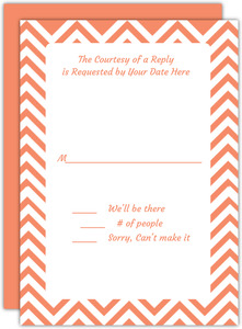 Chevron Bat Mitzvah Response Card