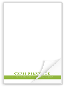 Double Lined Simple Custom Notepad