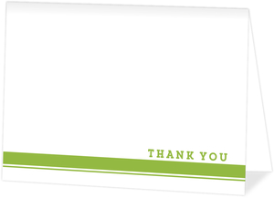 Double Lined Simple Thank You Card