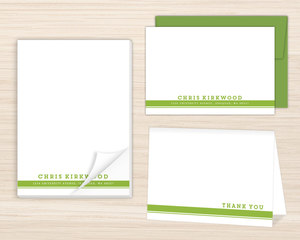 Double Lined Simple Stationery Set