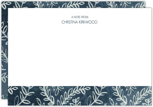 Rustic Laurel Pattern Custom Notecard