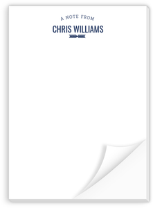 Navy Arrow Custom Notepad