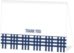 Navy Arrow Custom Thank You Card
