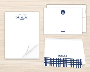 Navy Arrow Stationery Set