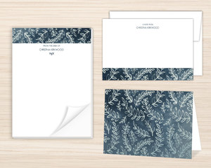 Rustic Laurel Pattern Stationery Set