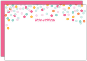 Colorful Confetti Custom Notecard