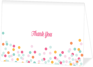 Colorful Confetti Custom Thank You Card