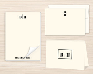 Traditional Monogram Stationery Set