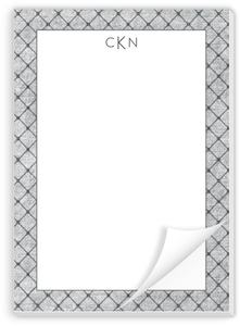 Gray Dotted Pattern Custom Notepad