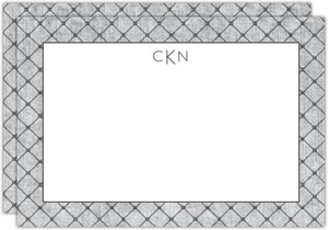 Gray Dotted Pattern Custom Notecard