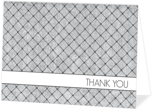 Gray Dotted Pattern Custom Thank You Card