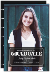 Black Classic Alum Graduation Announcement